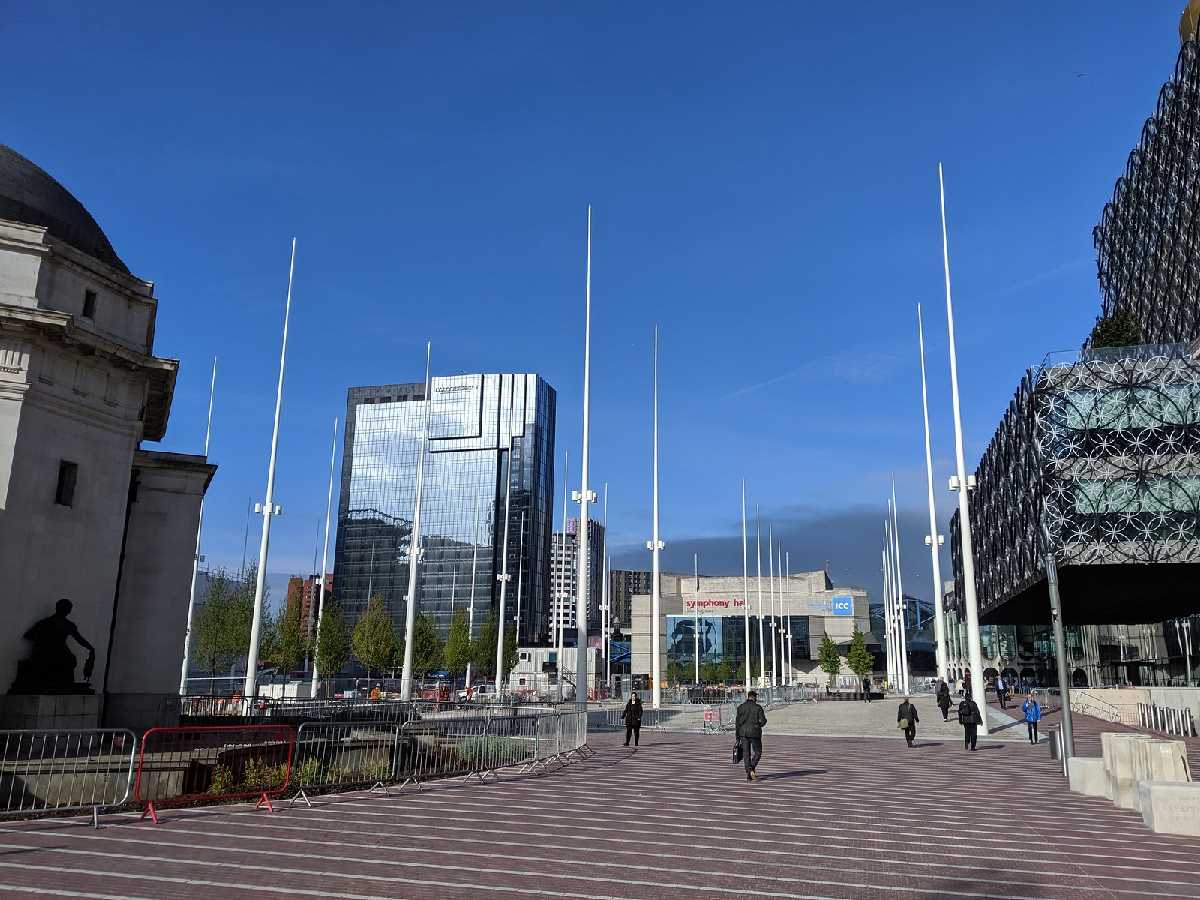 """Unity, coherence and uniqueness"" - that`s Birmingham`s new Centenary Square!"